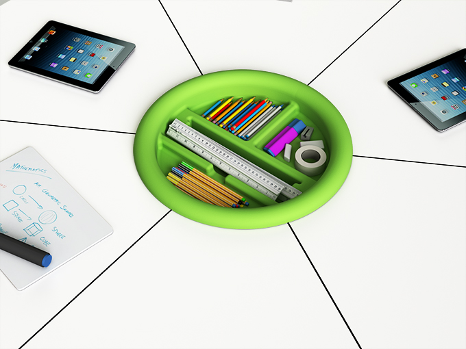 t41 roundel for storing stationery without A4 whiteboard