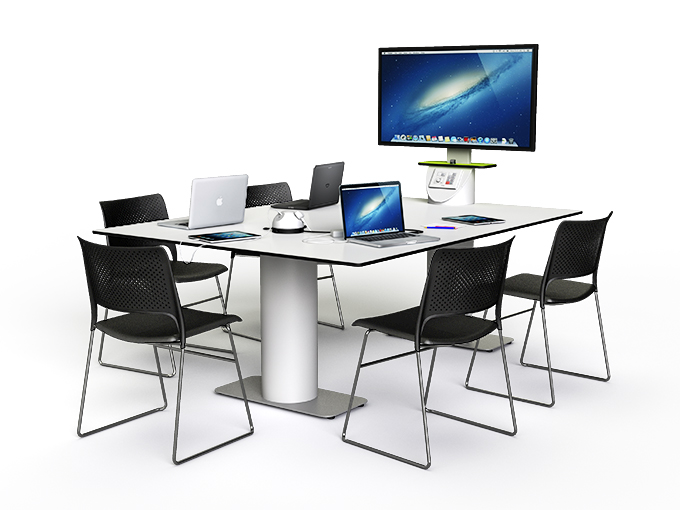 Collaborative multi media table for project work
