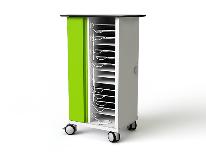 iPad charge and sync trolley for 16 iPads