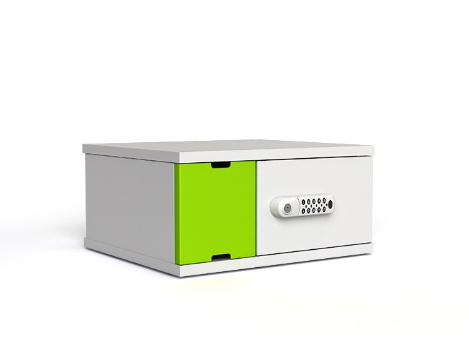 4 bay iPad and tablet charging cabinet with digital code lock