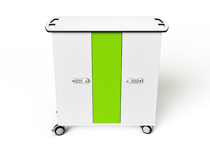 iPad charging trolley with 32 tablets and digital code lock