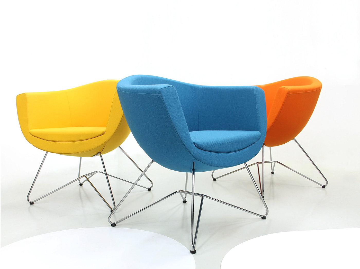 sophisticated stylish smile tub chairs wire frame base