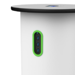 Rechargeable power hub tower 6 USB-C ports close up port detail